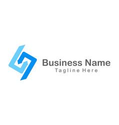 letter s arrow company logo vector image