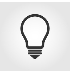 Light bulb icon flat design vector