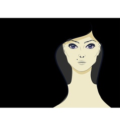 Lineart girl3 vector