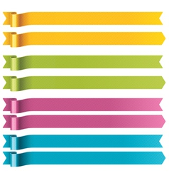 long ribbons vector image vector image