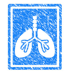 Lungs fluorography grunge icon vector