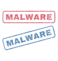 Malware textile stamps vector