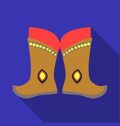 military boots of the mongolspart of the national vector image