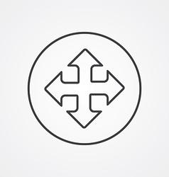 Move outline symbol dark on white background logo vector