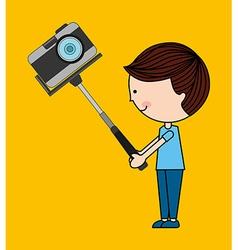 photographic camera design vector image vector image