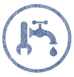 plumbing fabric textured icon vector image