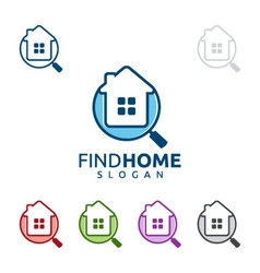 Real estate logo home house logo find home logo vector
