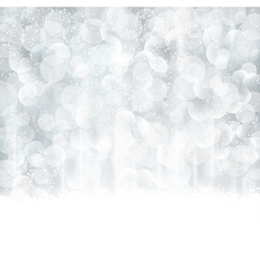 Silver abstract Christmas winter vector image vector image