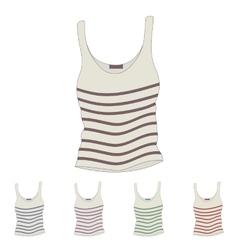 Singlet Female singlet Sleeveless shirts vector image