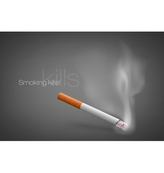 smoldering cigarette with a smoke vector image