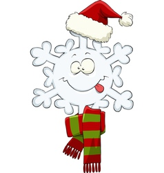 snowflake hat vector image vector image