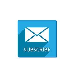 Subscribe button flat vector