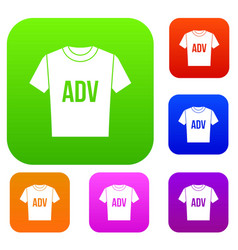 t-shirt with print adv set collection vector image vector image