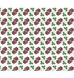 Traditional pattern ornament with grapes vector image