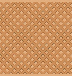wafer seamless background waffles pattern vector image vector image