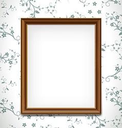 Wooden frame stock vector