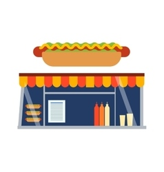 Fast food shop showcase ector vector