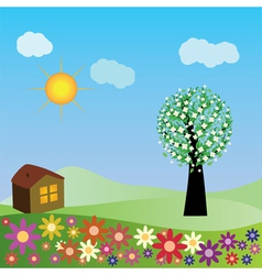 Springtime house vector