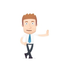office worker in various poses vector image