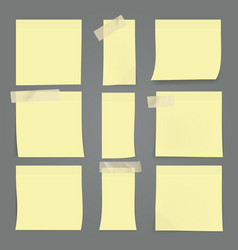 yellow sticky notes on wall vector image