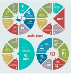 Social circular diagrams vector