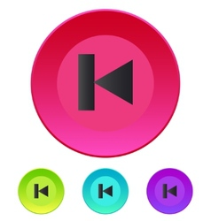 Previous track web icon media player vector