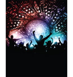 Party background with mirror ball vector image
