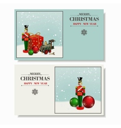 Christmas and a happy new year greeting card vector