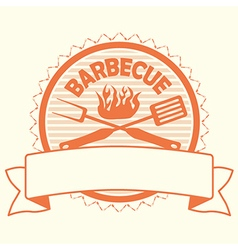 Barbecue label stamp design element vector