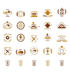Bakery logos set vector