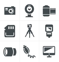Photography icons set design vector