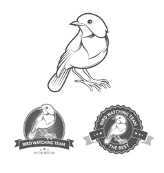 Bird labels vector
