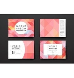 Set of brochure poster design templates in world vector