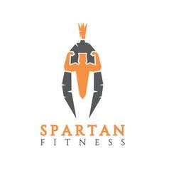bodybuilder as part of the Spartan helmet concept vector image