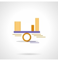Balance diagram abstract flat color icon vector