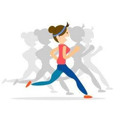 Woman run vector