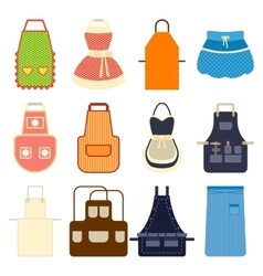 Kitchen apron set vector
