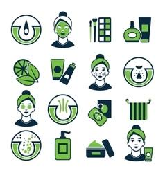 Acne Color Icon Set vector image