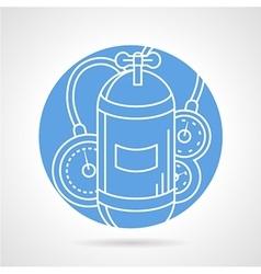 Aqualung blue round icon vector image