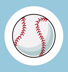 Baseball ball equipment icon vector