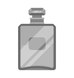 Bottle of french perfume icon in monochrome style vector