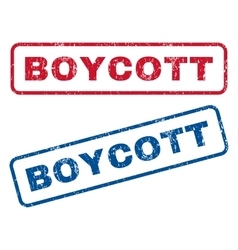 Boycott rubber stamps vector