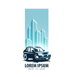 Car logo design template transport or vector