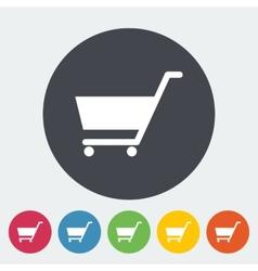 Cart Single flat icon vector image vector image