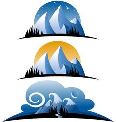 cartoon mountains vector image