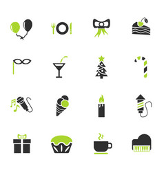 celebration icon set vector image vector image