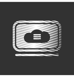 Cloud Storage Service Icon vector image vector image