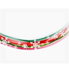 Color wave line with snowflakes winter vector
