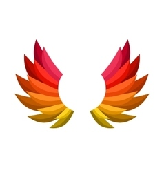 Color Wing Icon vector image vector image