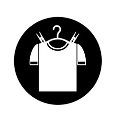 Drying hook with shirt laundry icon vector